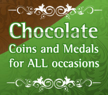 Chocolate Coins and Medals for all occasions